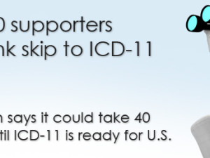 ICD-10 supporters debunk skip to ICD-11