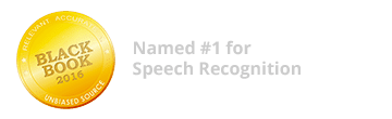 Named #1 for Speech Recognition by Black Book Research