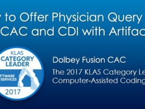 Dolbey to Offer Physician Query Mobile App for CAC and CDI with Artifact Health