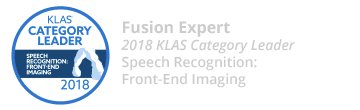 Fusion Expert - 2018 KLAS Category Leader - Speech Recognition: Front-End Imaging