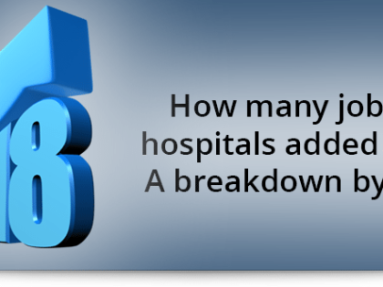 How many jobs have hospitals added in 2018? A breakdown by month
