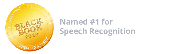 Named #1 for Speech Recognition 2018 by Black Book Research